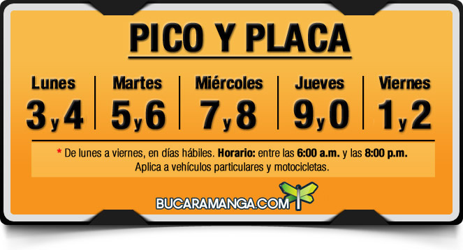 Pico y placa en Bucaramanga