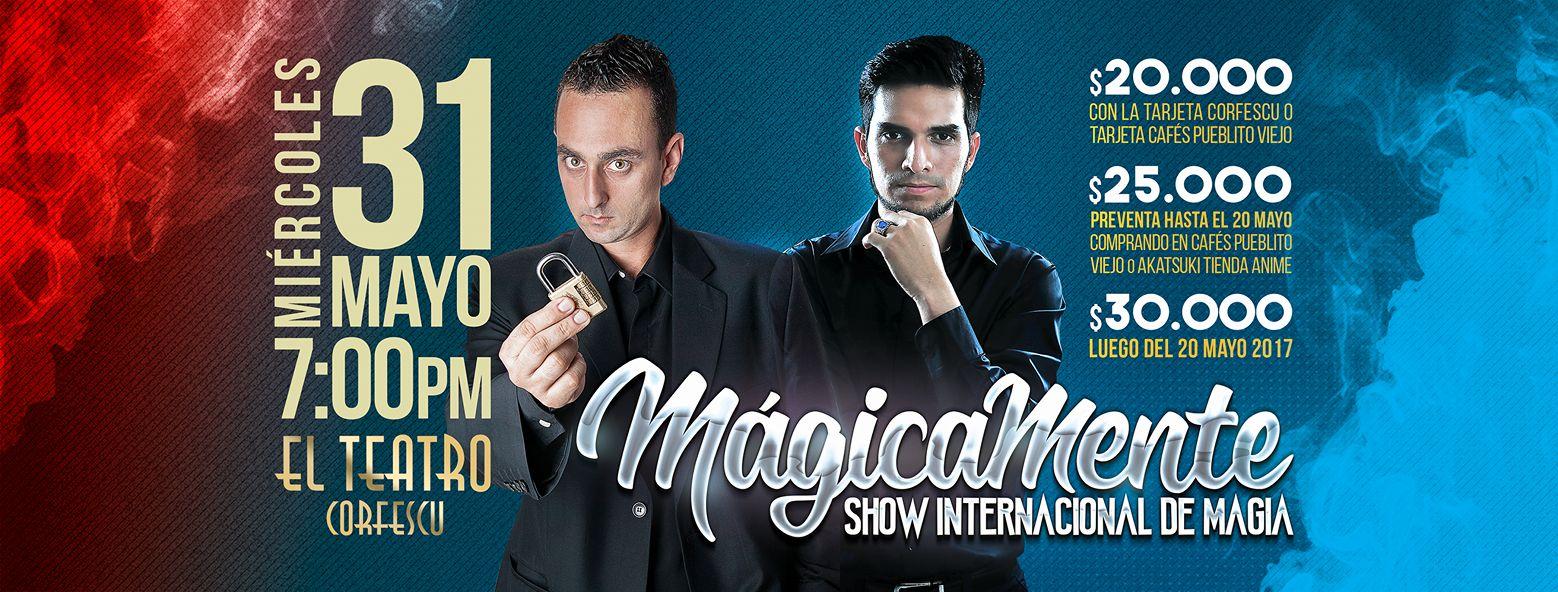 Mágicamente, un espectáculo de magia en el teatro Corfescu de Bucaramanga