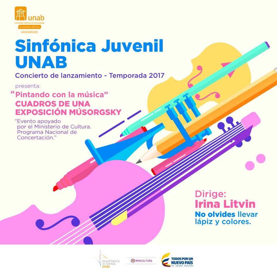 Pintando con la música, un evento con el apoyo del Ministerio de Cultura en la Universidad Autónoma de Bucaramanga, UNAB