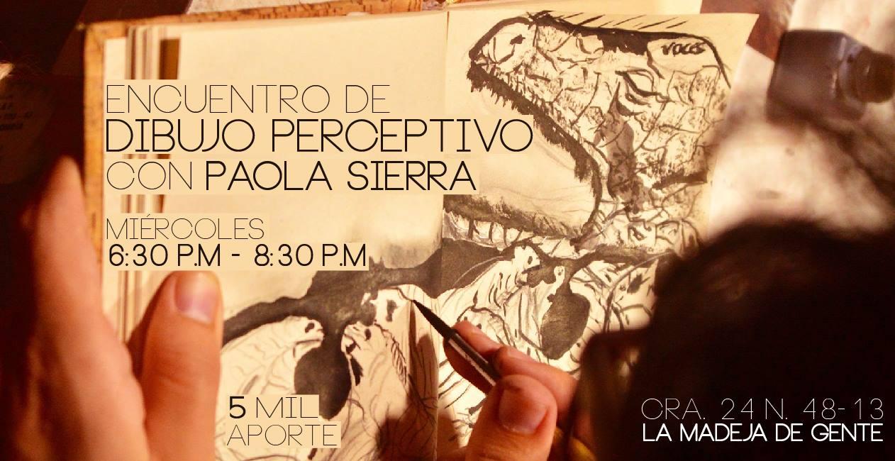 Encuentro de dibujo perceptivo en La Madeja de Gente, en Bucaramanga