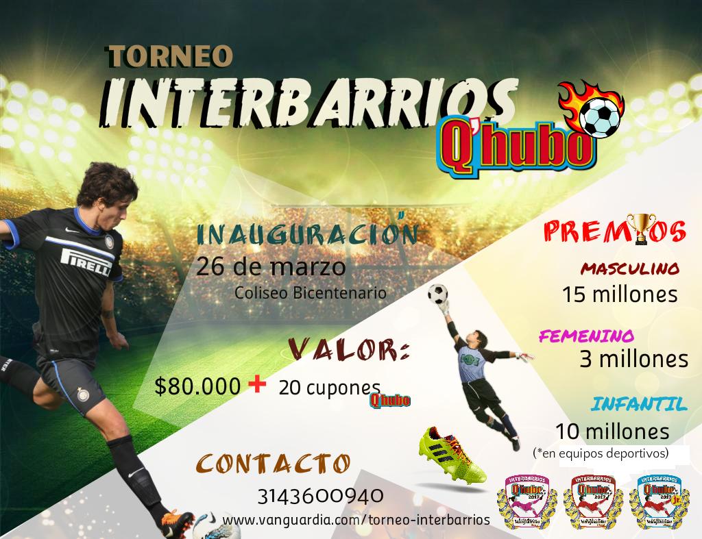 ¡Inscríbase al Torneo Interbarrios de Fútbol Sala ya!