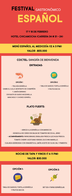 Pruebe la mejor comida española en Bucaramanga