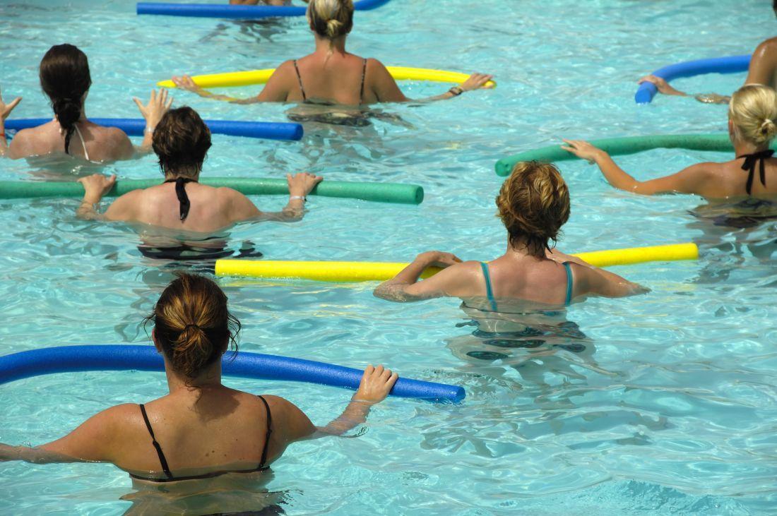 Aqua Fitness en el parque acuático Acualago de Floridablanca, Santander