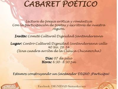 Cabaret poético en Bucaramanga