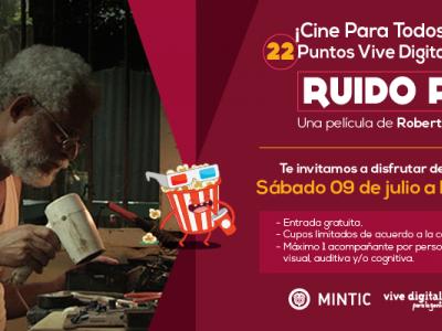 """'Cine Para Todos' llega a Bucaramanga con """"Ruido rosa"""""""