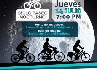 Ciclo paseo nocturno en Floridablanca