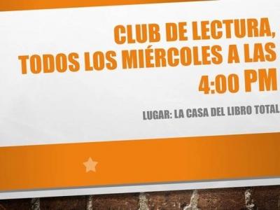 Club de lectura todos los miércoles en La Casa del Libro Total