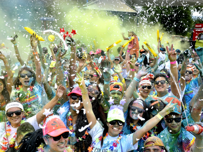 La carrera 'Colors Fest' se toma Piedecuesta