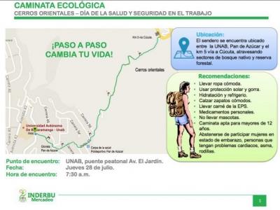 Caminata ecológica en los Cerros Orientales