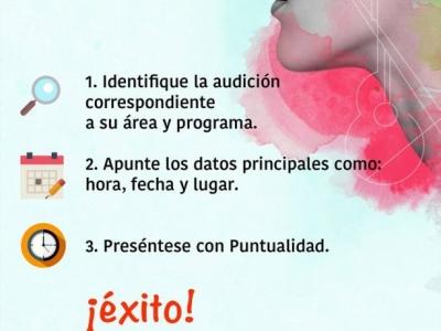 Audiciones para aspirantes a la Escuela Municipal de Artes de Bucaramanga