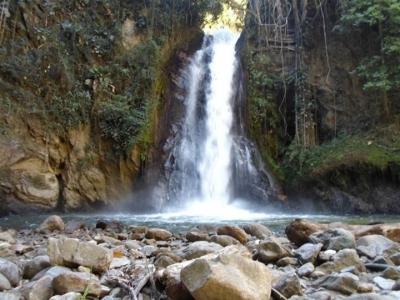 La cascada El Caney en Piedecuesta