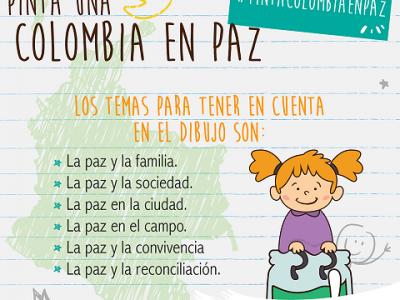 """Concurso """"Pinta una Colombia en paz"""""""