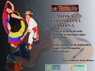 Llega 'La Tertulia' de música andina a Floridablanca