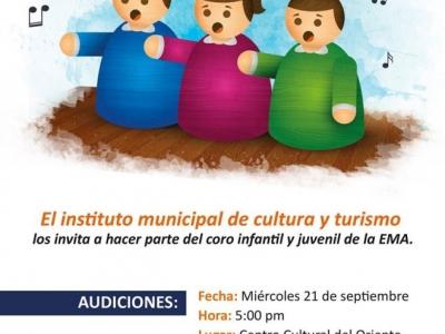 Audición para el coro infantil y juvenil
