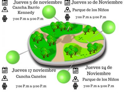Recreación y deporte en los parques de Bucaramanga