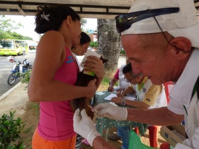 Jornada de vacunación en la comuna 11