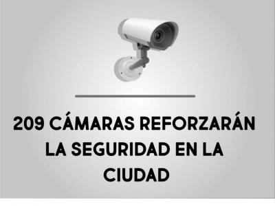 209 cámaras reforzarán la seguridad en Bucaramanga