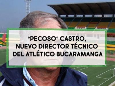"""""""Pecoso"""" Castro es el nuevo D.T del Atlético Bucaramanga"""