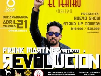 Frank Martínez presenta su nuevo stand-up comedy (y es 2x1)