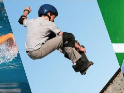 Skateboarding, natación y tenis de campo se toman la ciudad este puente festivo