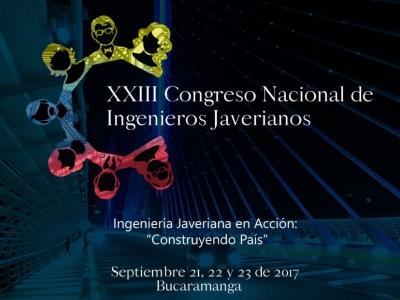 'XXIII Congreso Nacional de Ingenieros Javerianos' en Bucaramanga
